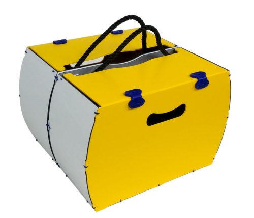 borsa per bici gialla rigida