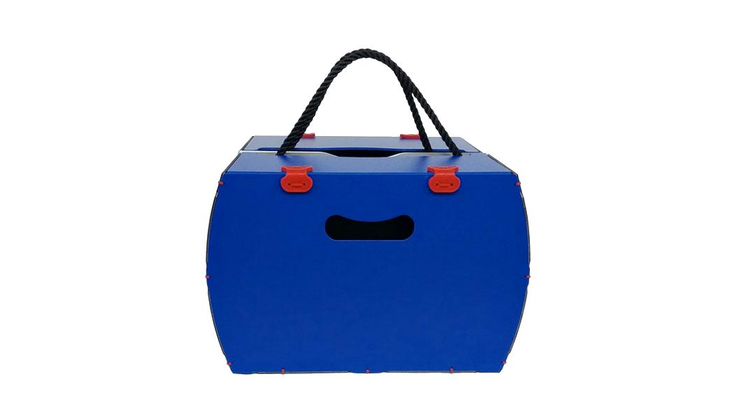 borsa per bici blu rigida