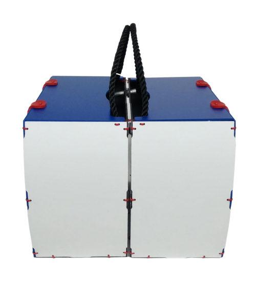 borse per bici modello pop blu rigido laterale