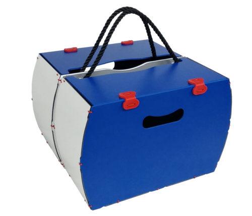 borse per bici modello pop blu rigido