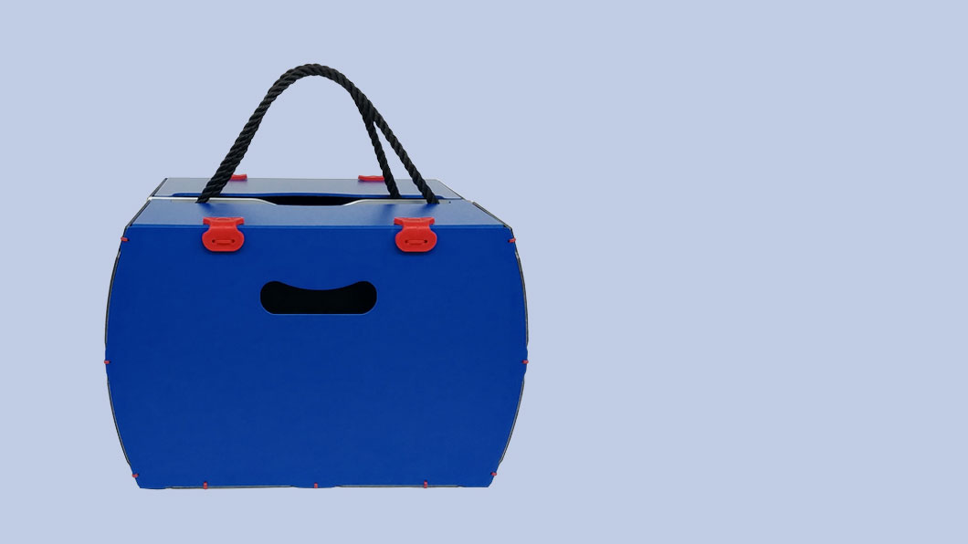 borsetta per bici modello pop blu rigido