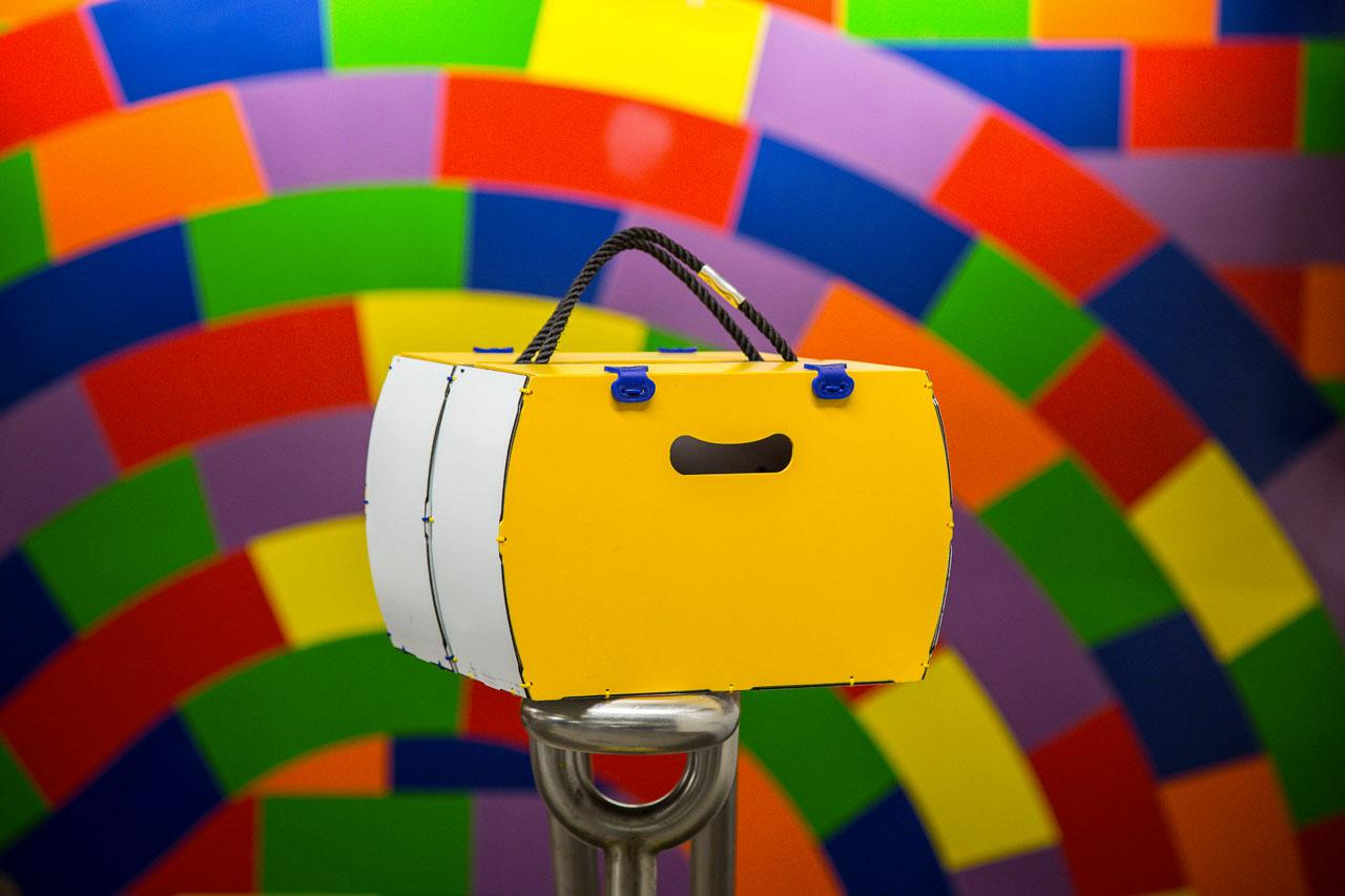 borsetta per bici modello pop giallo rigido