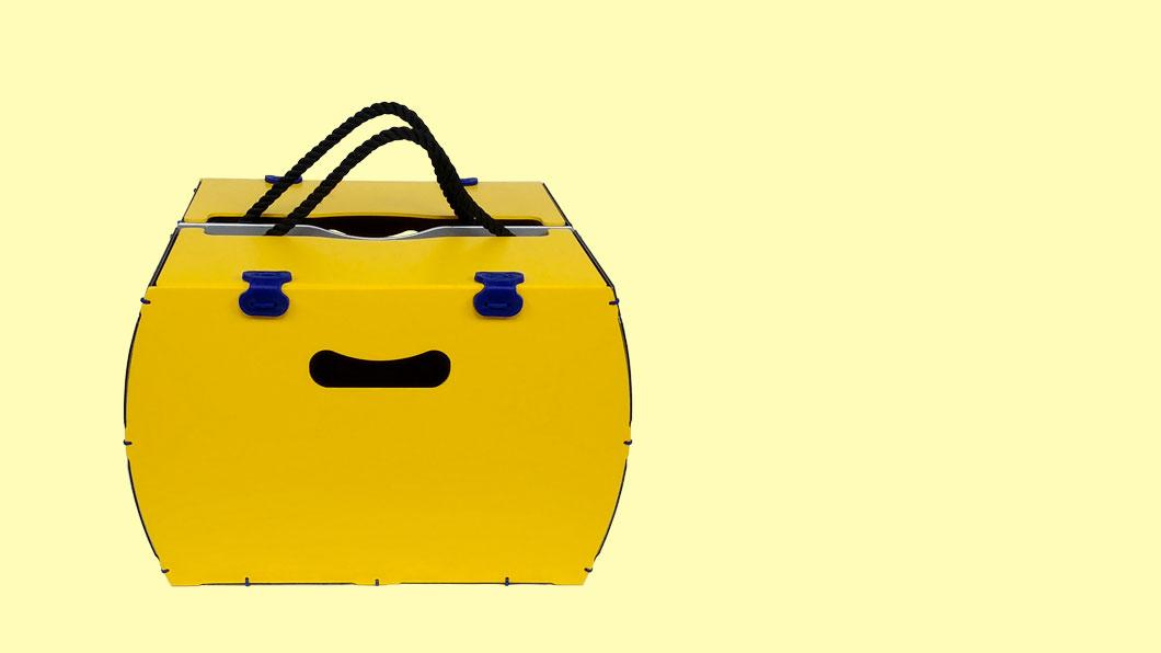 borsa per bici gialla modello pop rigido di per bike