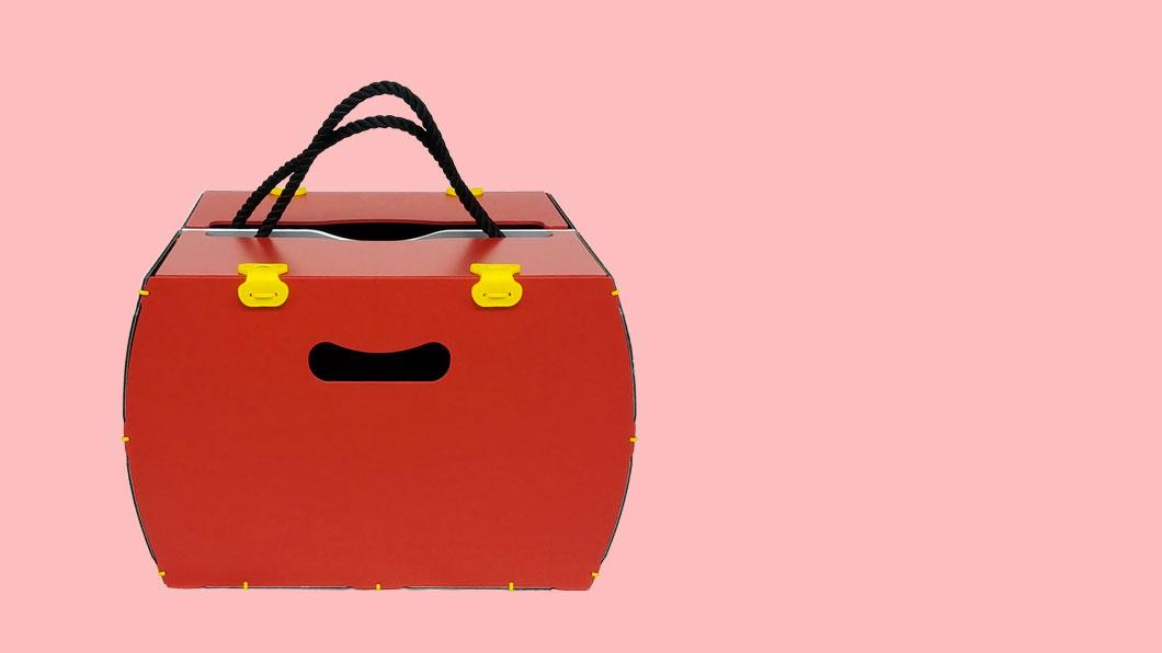 borsetta per bici modello pop rossa rigido