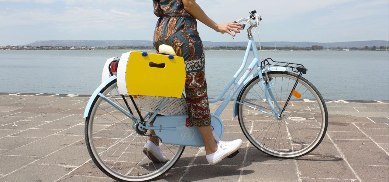 borsetta per bici modello pop giallo rigido di per bike