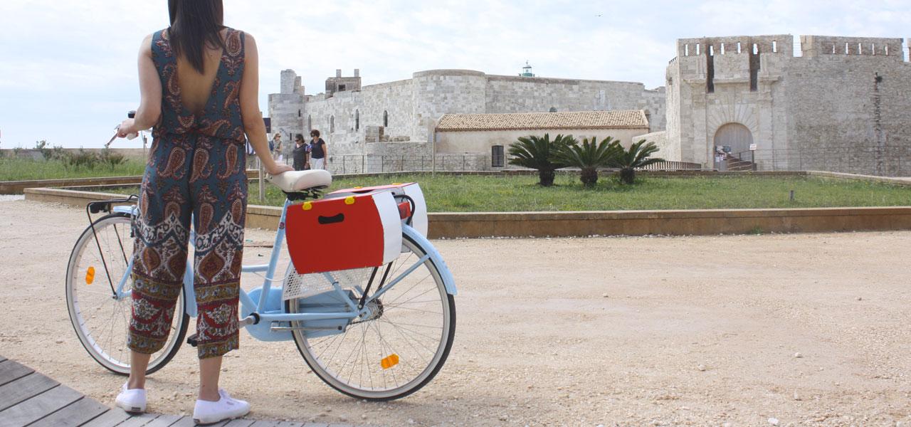 borsetta bici rossa modello pop di per bike