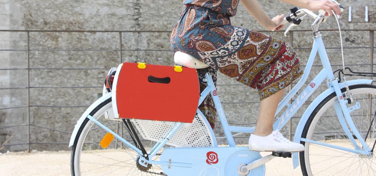 borsetta per bici rossa modello pop di per bike